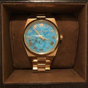Blue Michael Kors watch